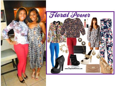 GaptoothDiva Style Steal Using the Floral and Colored Pants Trend - Floral Power