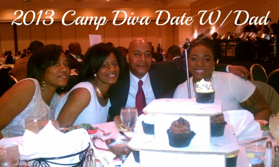 GaptoothDiva attends 2013 Camp Diva Date With Dad Dinner and Dance