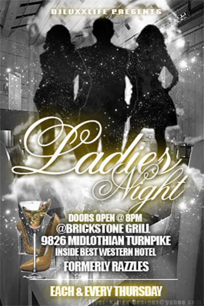 GaptoothDiva is attending Ladies Night at BrickStone Grill 4/4/2013