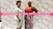I'esha GaptoothDiva and her Assistant Chinhayi Brooks at Glam R Us event
