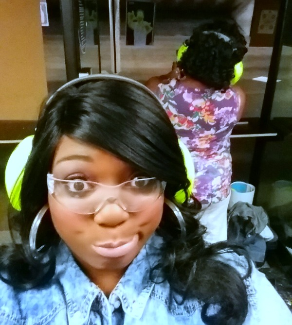 Am I Really The Only Grown Black Woman with Mommy Issues, Gaptoothdiva at the shooting range with her mom
